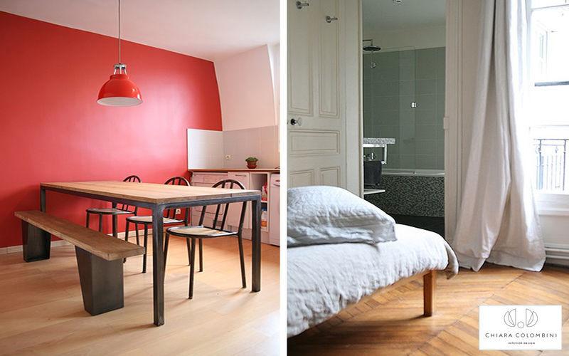 CHIARA COLOMBINI Interior decoration plan Interior decoration plans Houses Bedroom | Cottage
