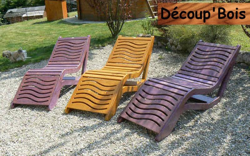 Découp'Bois Sun lounger Garden chaises longues Garden Furniture  |