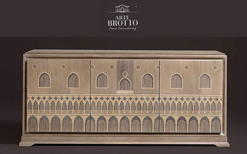 Arte Brotto Low sideboard Cabinets and Buffets Storage  |