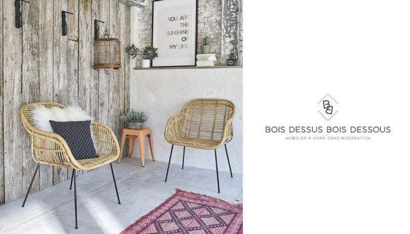 BOIS DESSUS BOIS DESSOUS Deck armchair Outdoor armchairs Garden Furniture  |