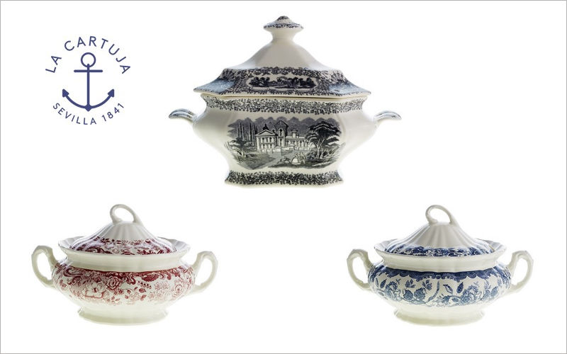 La Cartuja De Sevilla Soup tureen Various Containers Crockery  |