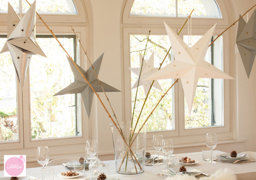 SOUS LE LAMPION Christmas star Christmas decorations Christmas and Holidays  |