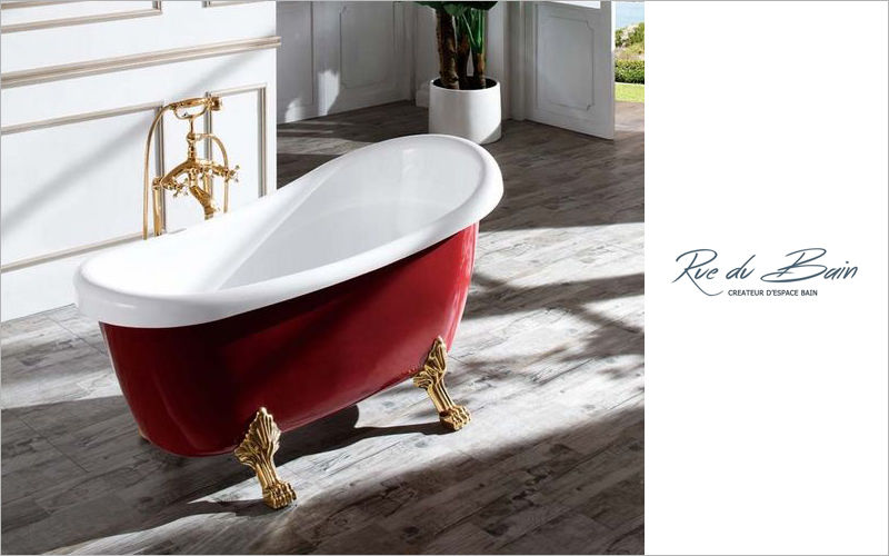Rue du Bain Freestanding bathtub with feet Bathtubs Bathroom Accessories and Fixtures  |