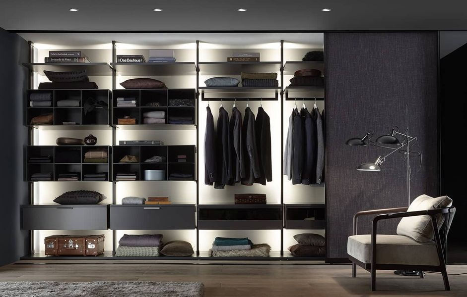 ARS NOVA Collection Straight Walk-in Closet Dressing rooms Wardrobe and Accessories  |