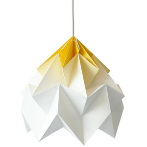 SNOWPUPPE - moth - suspension xl papier tie & dye blanc/jaune  - Hanging Lamp