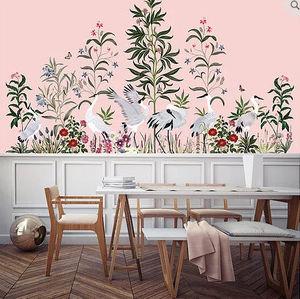 MLLE MOUNS PAPER - la parade des oiseaux - Single Strip Of Wallpaper