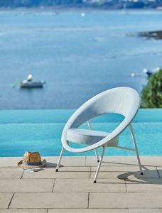 Folding garden armchair
