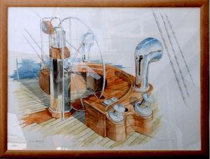 Cadrillage Marine frame