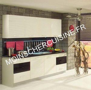 MOINS CHER CUISINE - arlekin blanc/noir - Built In Kitchen