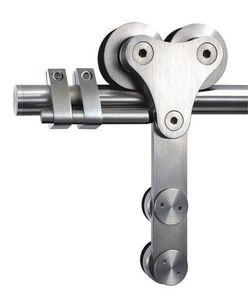 ALLIAGE CONCEPT - ferrure de porte coulissante verre enfield 4 - Sliding Door Rail