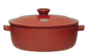 Emile Henry - cocotte ovale rouge 4,7 litres - Casserole