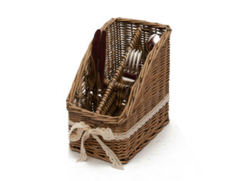 Antic Line Creations - porte couverts en osier 13x20x20.5cm - Cutlery Tray