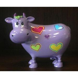 FAYE - tirelire vache mauve - Piggybank