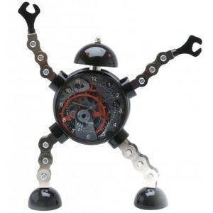 Present Time - réveil king robot métal - Children's Alarm Clock