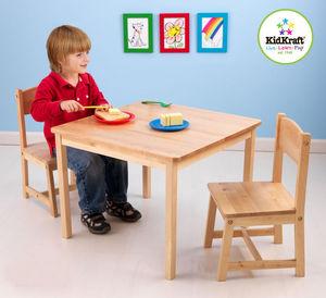 KidKraft - salon table et chaises pour enfant en bois clair - Children Games Table