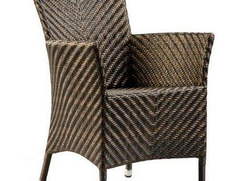 Alexander Rose - fauteuil océan wave en viro et aluminium 109x71x10 - Garden Armchair