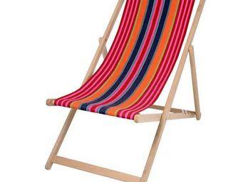 Artiga - chilienne artiga ogeu en hêtre massif et coton 55, - Deck Chair