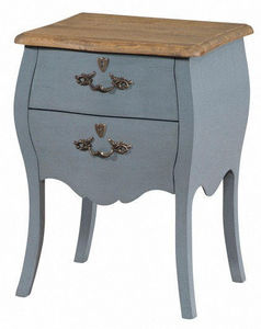 INWOOD - chevet baroque gris style louis xv 45x36x62cm - Bedside Table
