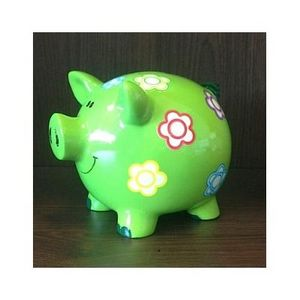 FAYE - tirelire cochon verte - Piggybank