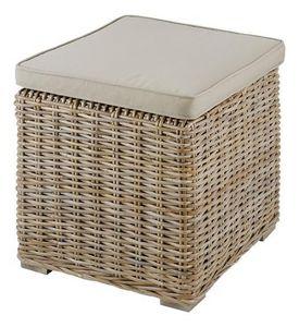 INWOOD - pouf carré en kubu - Floor Cushion