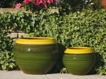 Les Poteries Clair de Terre - 'mousse citron - Flower Container