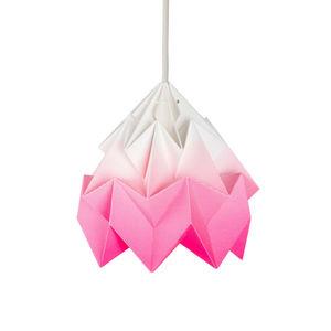 SNOWPUPPE - moth - suspension papier tie & dye blanc/rose fluo - Hanging Lamp