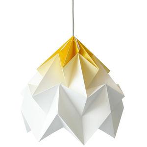 SNOWPUPPE - moth - suspension xl papier tie & dye blanc/jaune  - Hanging Lamp