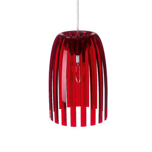 Koziol - josephine - suspension rouge transparent ø21,8cm | - Hanging Lamp