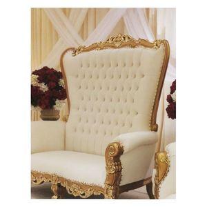 DECO PRIVE - canapé princier 2 places en velours rouge et doré - 2 Seater Sofa