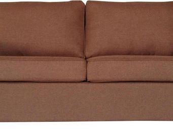 WHITE LABEL - canapé 2 places convertibles coloris brun clair - 2 Seater Sofa