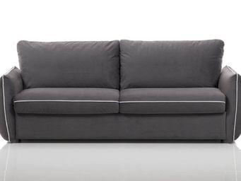 WHITE LABEL - canapé fixe linus 2-3 places gris - 2 Seater Sofa