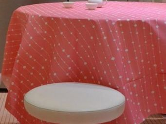 FLEUR DE SOLEIL - perles rose - Coated Tablecloth