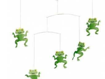 FLENSTED MOBILES - the happy frog mobile - Crib Mobile