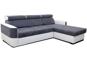 WHITE LABEL - canapé d'angle gigogne convertible express sciroc - Adjustable Sofa