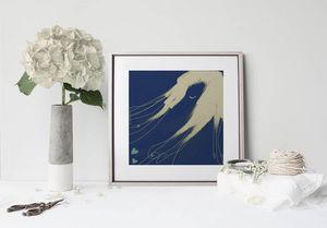 la Magie dans l'Image - print art de loin bleu - Decorative Painting
