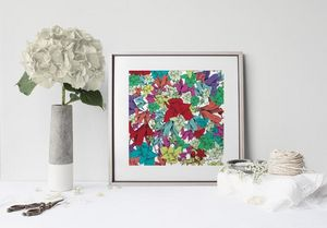 la Magie dans l'Image - print art fleurs - Decorative Painting