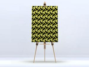 la Magie dans l'Image - toile abstrait fifties moutarde - Digital Wall Coverings