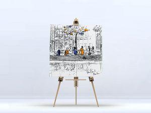 la Magie dans l'Image - toile canal saint martin - Digital Wall Coverings