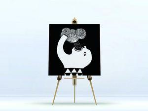 la Magie dans l'Image - toile ogre pluie noir & blanc - Digital Wall Coverings