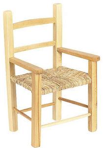 Aubry-Gaspard - fauteuil enfant en hêtre naturel verni - Armchair