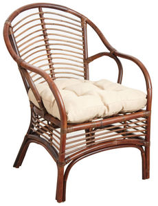 Aubry-Gaspard - fauteuil en rotin marron - Armchair