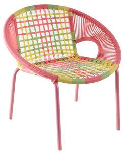 Aubry-Gaspard - fauteuil enfant multicolore en polyrésine - Armchair