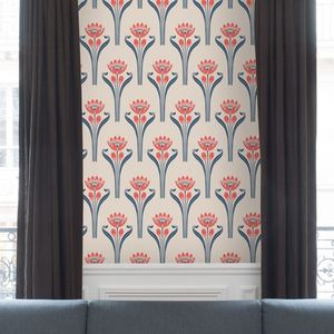 ISIDORE LEROY - papier peint tulipes - Wallpaper