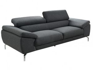 WHITE LABEL - canapé gretel - 3 Seater Sofa