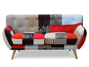WHITE LABEL - canapé serti - 3 Seater Sofa