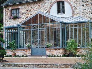 Serres et Ferronneries d'Antan - véranda toiture plusieurs pentes - Conservatory