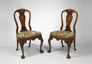 F P FINE ART - george ii burr walnut side chairs - Chair