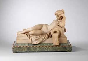 F P FINE ART - figure of a reclining nymph - Figurine