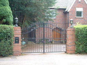 Access Controls - heavy gauge arch top - Entrance Gate
