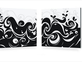 Miliboo - vagues - Decorative Painting